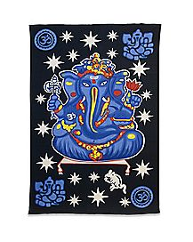 Purple Ganesh Tapestry