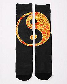 Pizza Yin Yang Crew Socks