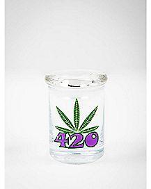 420 Weed Leaf Storage Jar - 3 oz.