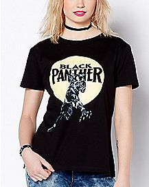 Circle Black Panther T Shirt - Marvel