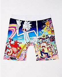 Running Rick and Morty Boxer Briefs