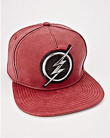 Metal Logo The Flash Snapback Hat - DC Comics