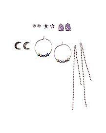 Multi-Pack Moon Star Earrings - 6 Pair
