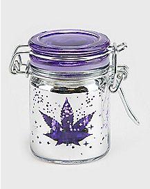 Galaxy Pot Leaf Storage Jar - 1.5 oz.