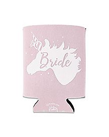 Pink Unicorn Bride Can Cooler