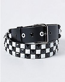 Checkered Stud Belt