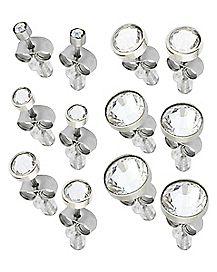 Multi-Pack Round Stud Earrings - 6 Pair