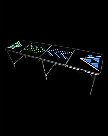 LED Arrowhead Beer Pong Table
