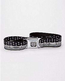 Black and White Americana Seatbelt Belt