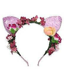 Floral Lace Cat Ear Headband