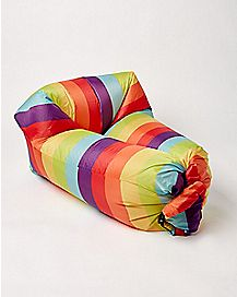 Rainbow Air Bed Inflatable Lounger