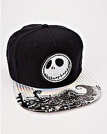 Iridescent Jack Skellington Snapback Hat - The Nightmare Before Christmas