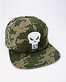 Camo Skull Punisher Snapback Hat - Marvel