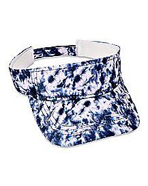 Splatter Tie Dye Visor Hat