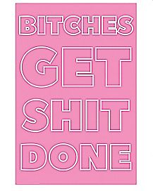 Bitches Get Shit Done Poster