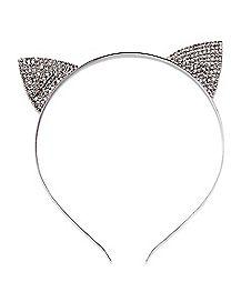 Rhinestone Cat Ear Headband