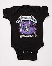 Metallica Ride the Lightning Baby Bodysuit
