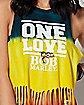 Fringe Tie Dye Bob Marley Tank Top