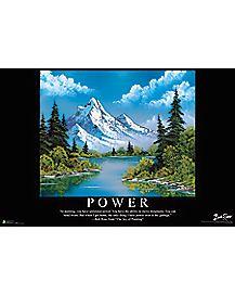 Power Bob Ross Poster