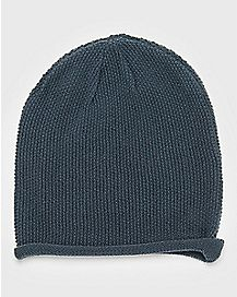 Gray Rolled Beanie Hat