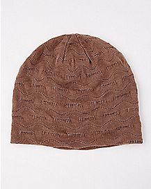 Tan Textured Beanie Hat
