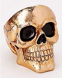 Goldplated Skull Ashtray