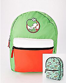 Green Reversible Yoshi Backpack - Nintendo