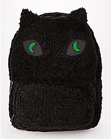 Faux Fur Light Up Cat Backpack