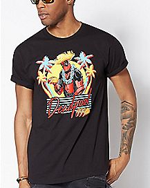 Tropical Deadpool T Shirt - Marvel