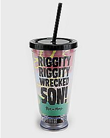 Riggity Riggity Wrecked Son Cup With Straw 16 oz. - Rick and Morty
