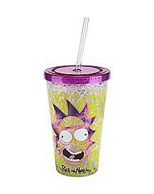 Freezer Gel Rick and Morty Cup With Straw - 16 oz.