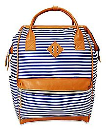 Striped Hinge Backpack