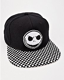 Checkered Jack Skellington Snapback Hat - The Nightmare Before Christmas