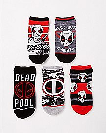 Multi-Pack Deadpool No Show Socks 5 Pair - Marvel