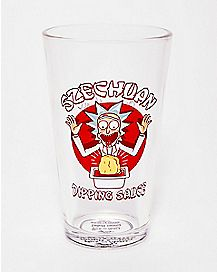 Szechuan Dipping Sauce Pint Glass 16 oz. - Rick and Morty