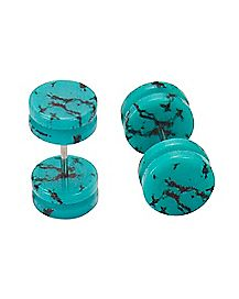 Turquoise-Effect Fake Plugs - 16 Gauge