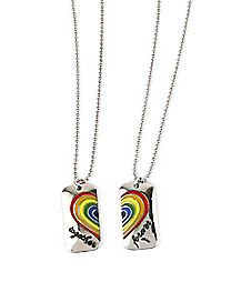 Rainbow Together Forever Best Friend Necklace