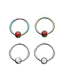 Multi-Pack Captive Rings 2 Pair - 18 Gauge