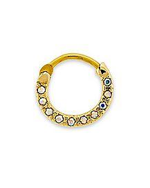 CZ Clicker Septum Ring - 16 Gauge