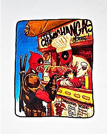 Snack Time Deadpool Fleece Blanket - Marvel