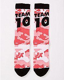 Camouflage Team 10 Crew Socks - Jake Paul