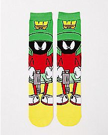 Marvin The Martian Crew Socks - Looney Tunes