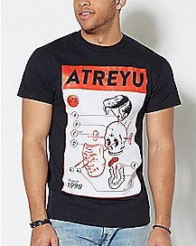 Skull Diagram Atreyu T Shirt
