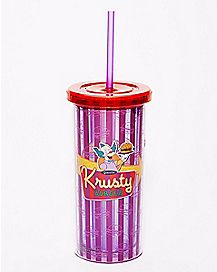 Krusty Burger Cup With Straw 20 oz. - The Simpsons