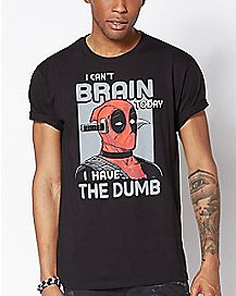 I Can't Brain Today Deadpool T Shirt - Marvel