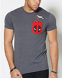 Pocket Deadpool T Shirt - Marvel