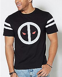 Varsity Stripe Deadpool T Shirt