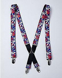 Americana Pot Leaf Suspenders
