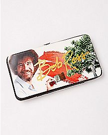 Painting Bob Ross Hinge Wallet