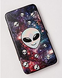 Galaxy Alien Hinge Wallet